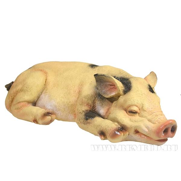 Фигура декоративная Свинка Сонюша L34.5W15H9 оптом