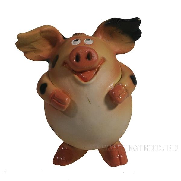 Фигура декоративная Свинка Мишелька (вид №2)L6.5W6H7.5 оптом