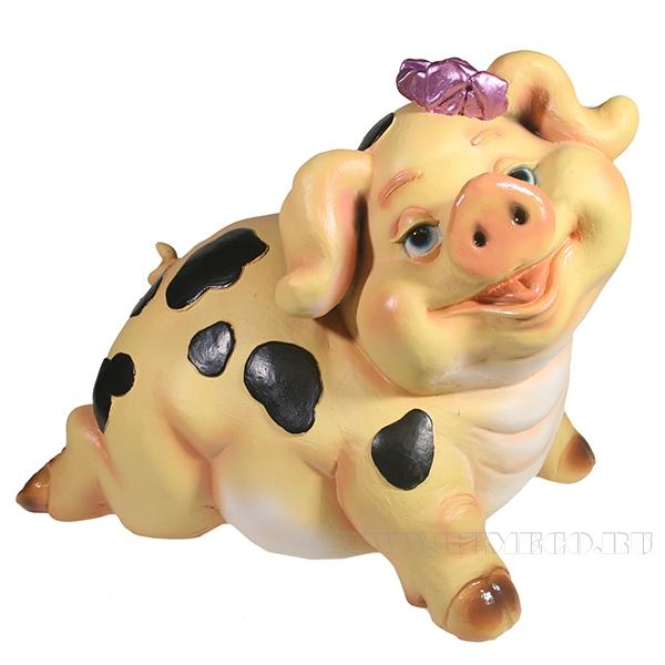 Копилка Свинка Миссис Паф L37W20H24 оптом