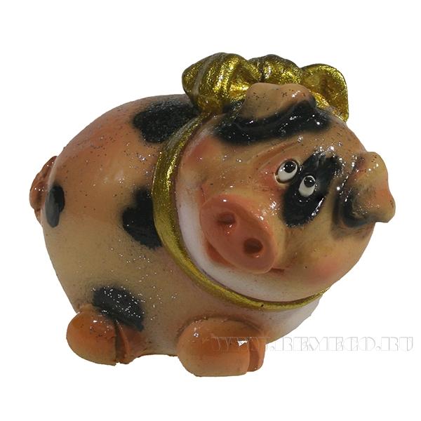 Фигура декоративная Свинка Нюшка L6.5W5.5H4 оптом