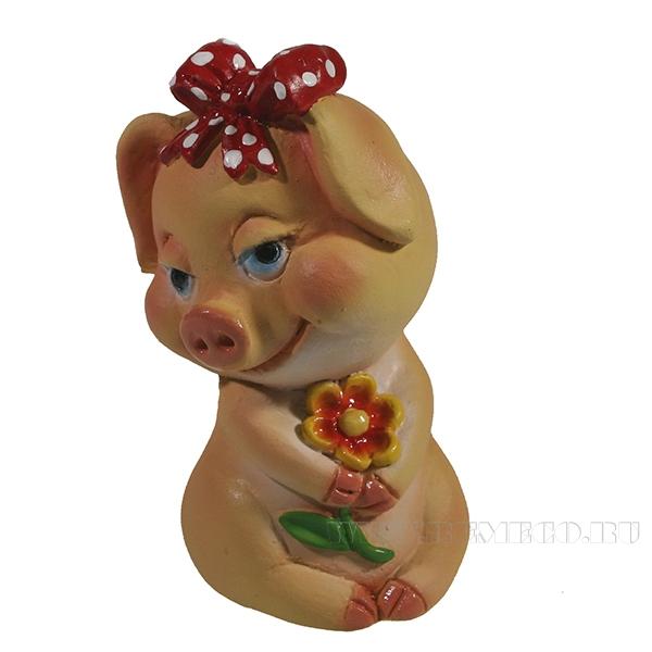 Фигура декоративная Свинка Марлин L5W5H7.5 оптом