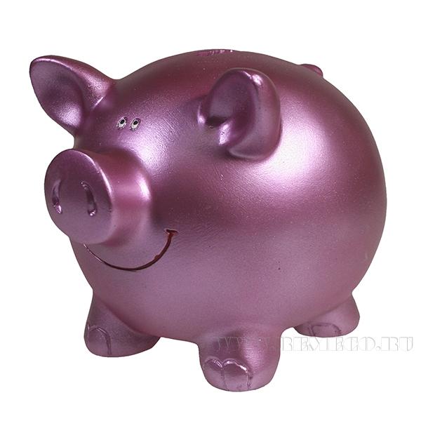 Копилка Свинка L15.5W12H11.5 (розовый) оптом