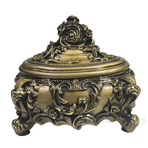 Изделие декоративное Шкатулка (цвет золото)L16W13H14см оптом