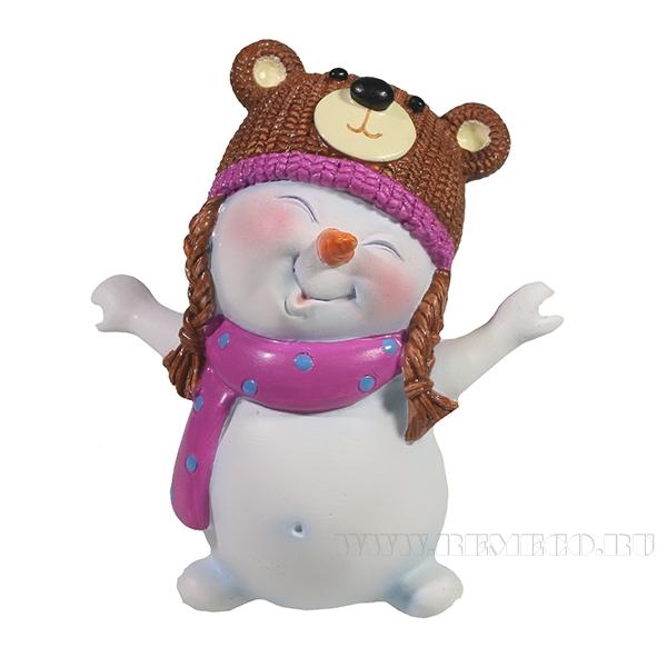 Фигура декоративная СнеговикL8,5W10,5H11.5 оптом