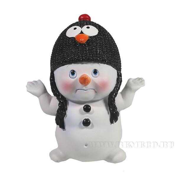 Фигура декоративная Снеговик L8,5W10,5H11.5 оптом