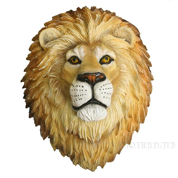 Фигура декоративная навесная Голова льва L24W33H42см оптом
