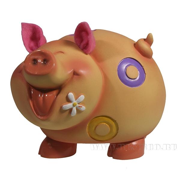Копилка Свинка Душечка L15W12H11.5 оптом
