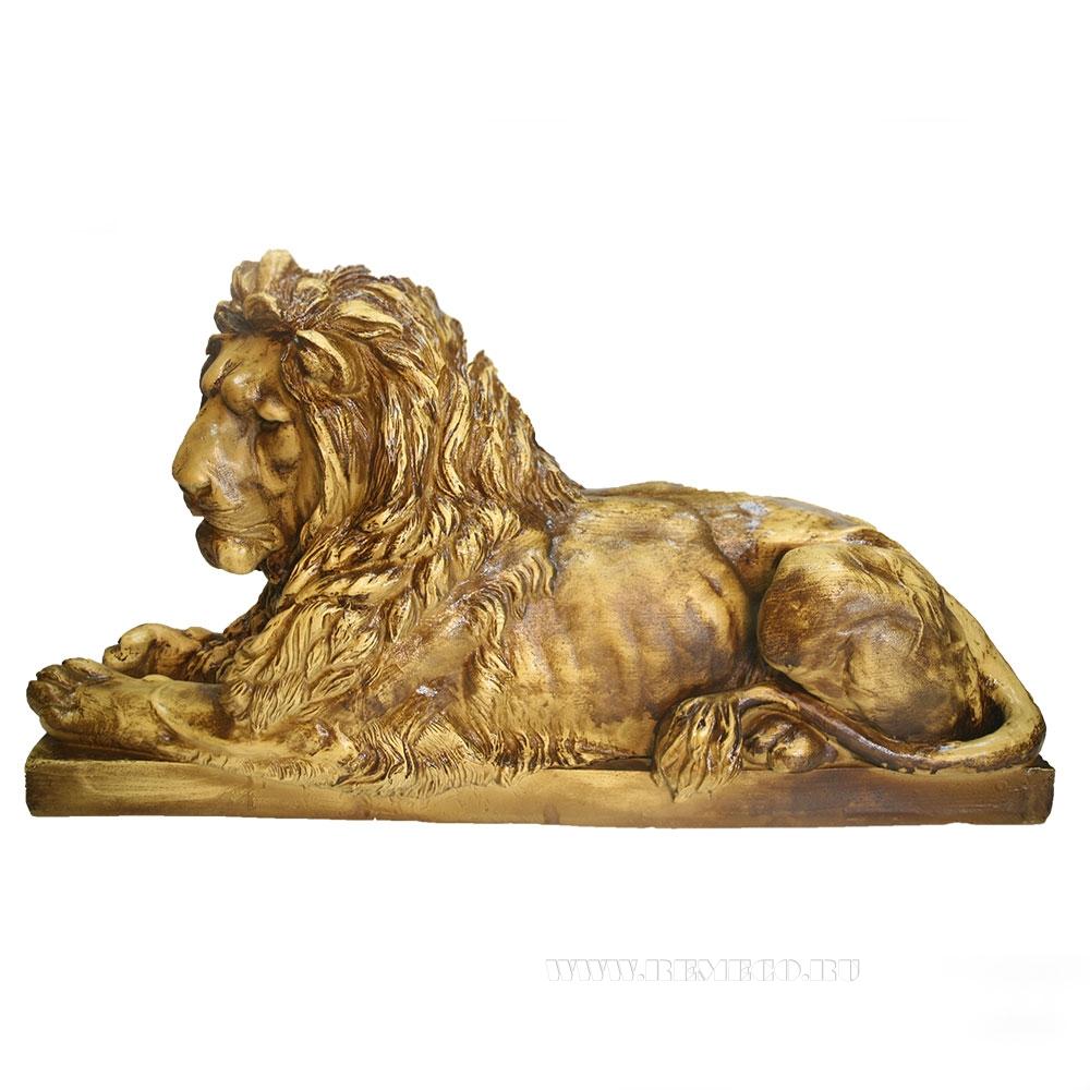 Фигура декоративная Лев (цвет красное дерево) L74W25H34 см оптом