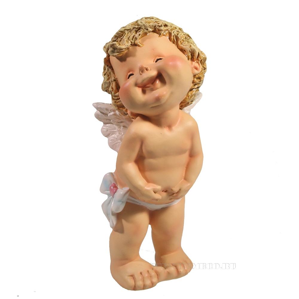 Фигура декоративная Счастливый ангелочек L7W8H18 см оптом