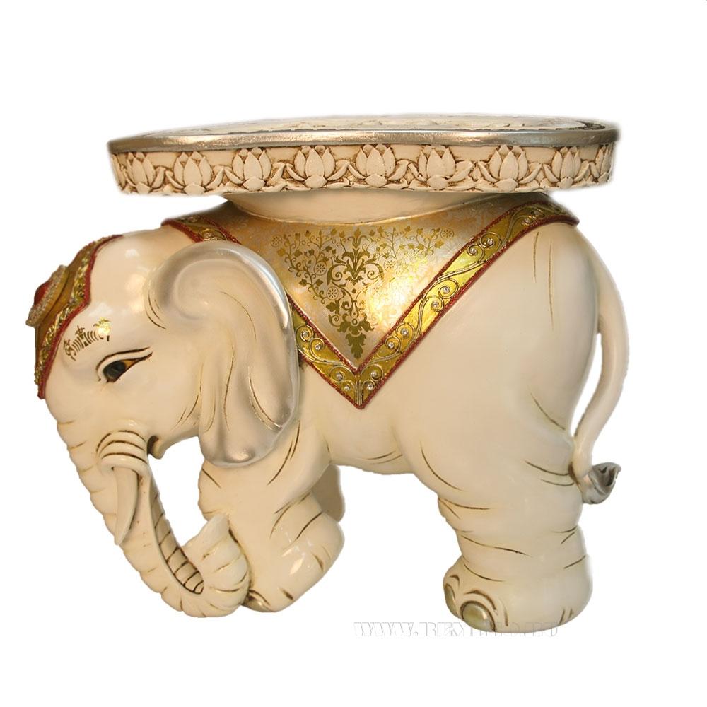 Изделие декоративное Слон(белый) L48W35H41см оптом