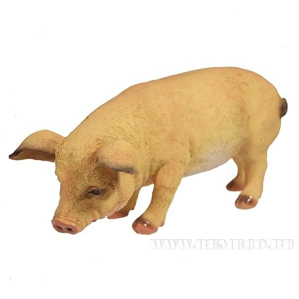Фигура декоративная Свинка Фуся L29.5W12H13 (светлая)) оптом