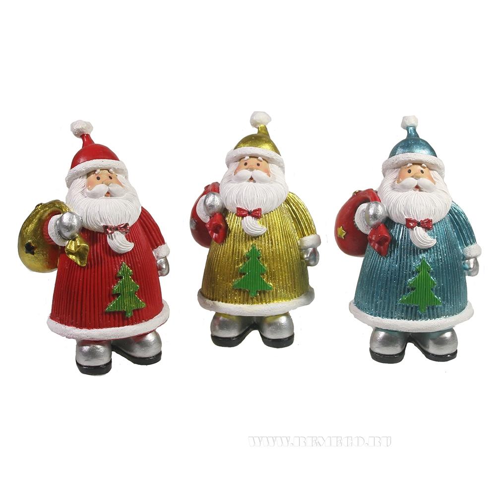 Фигура декоративная Дед Мороз 3в L6W5H10 оптом