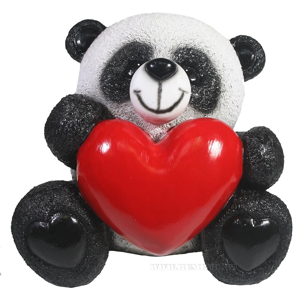 Копилка Панда с сердцем L22W18H19 см оптом