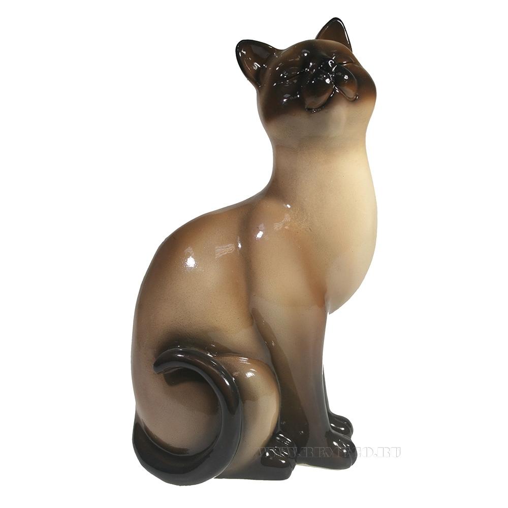 Фигура декоративная Кошка сиамская L12W9H21.5 оптом