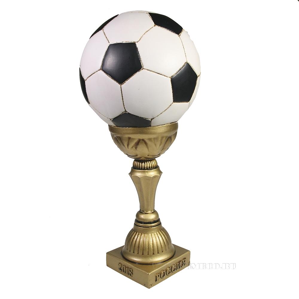 Копилка Мяч в высоком кубке (кубок- золото) L15W15H30 оптом