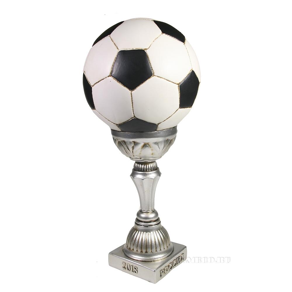 Копилка Мяч в высоком кубке (кубок- серебро) L15W15H30 оптом