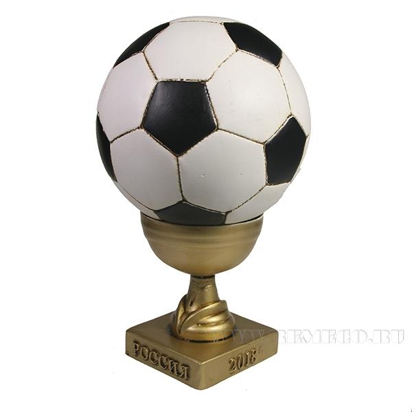 Копилка Мяч в маленьком кубке (кубок- золото) L15W15H22 оптом