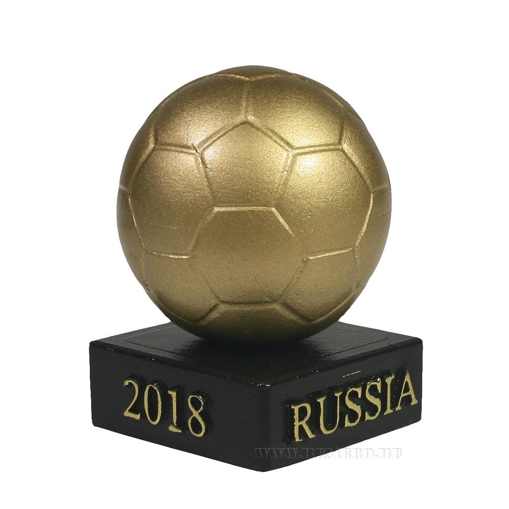 Изделие декоративное Мяч на подставке (золото)L5W5H8.5 оптом