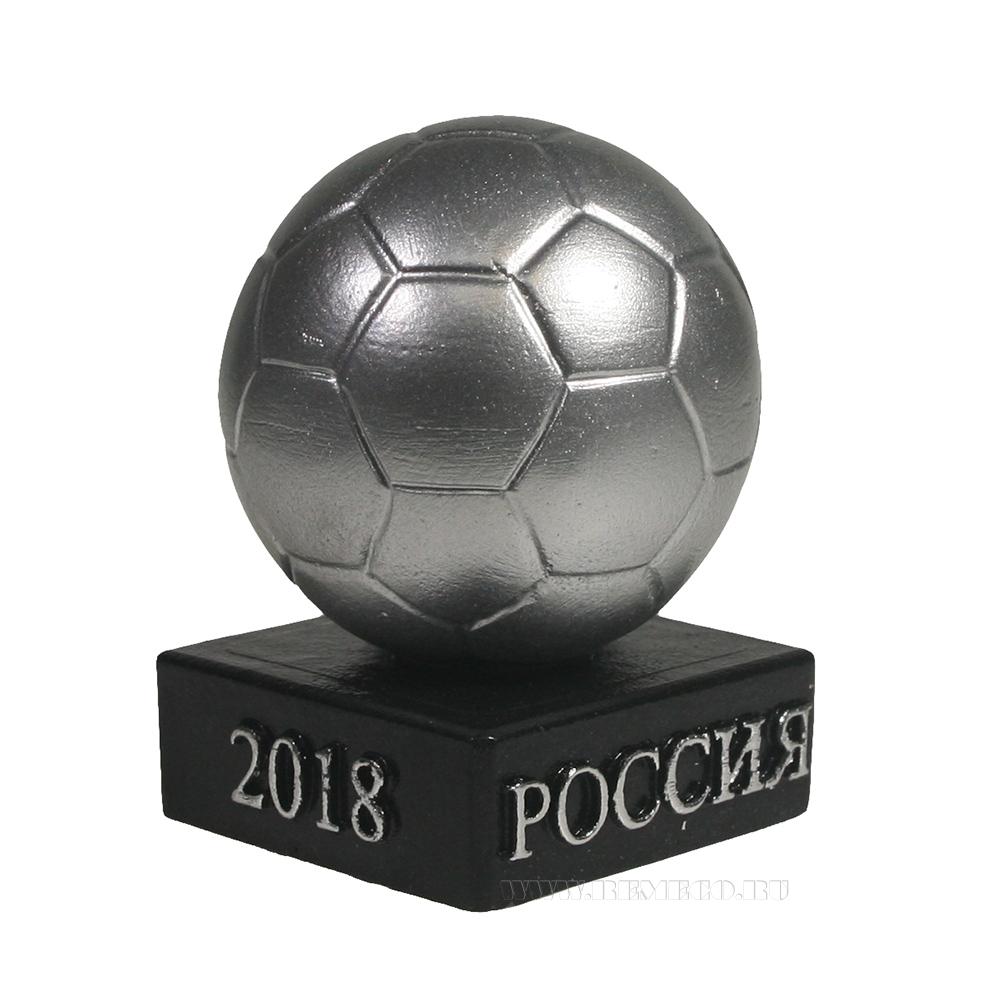 Изделие декоративное Мяч на подставке (серебро)L5W5H8.5 оптом