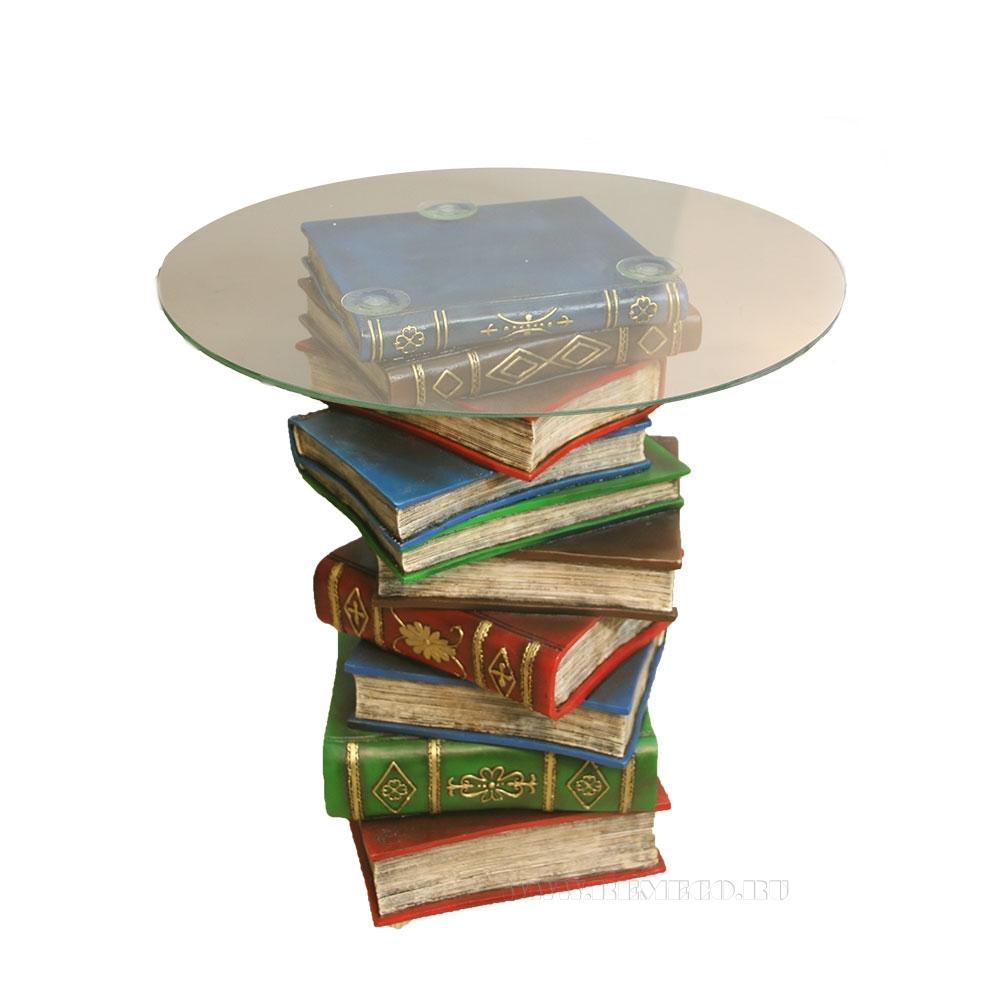 Стол журнальный Книги (акрил)H52D47см (2 части - основание, столешница) оптом