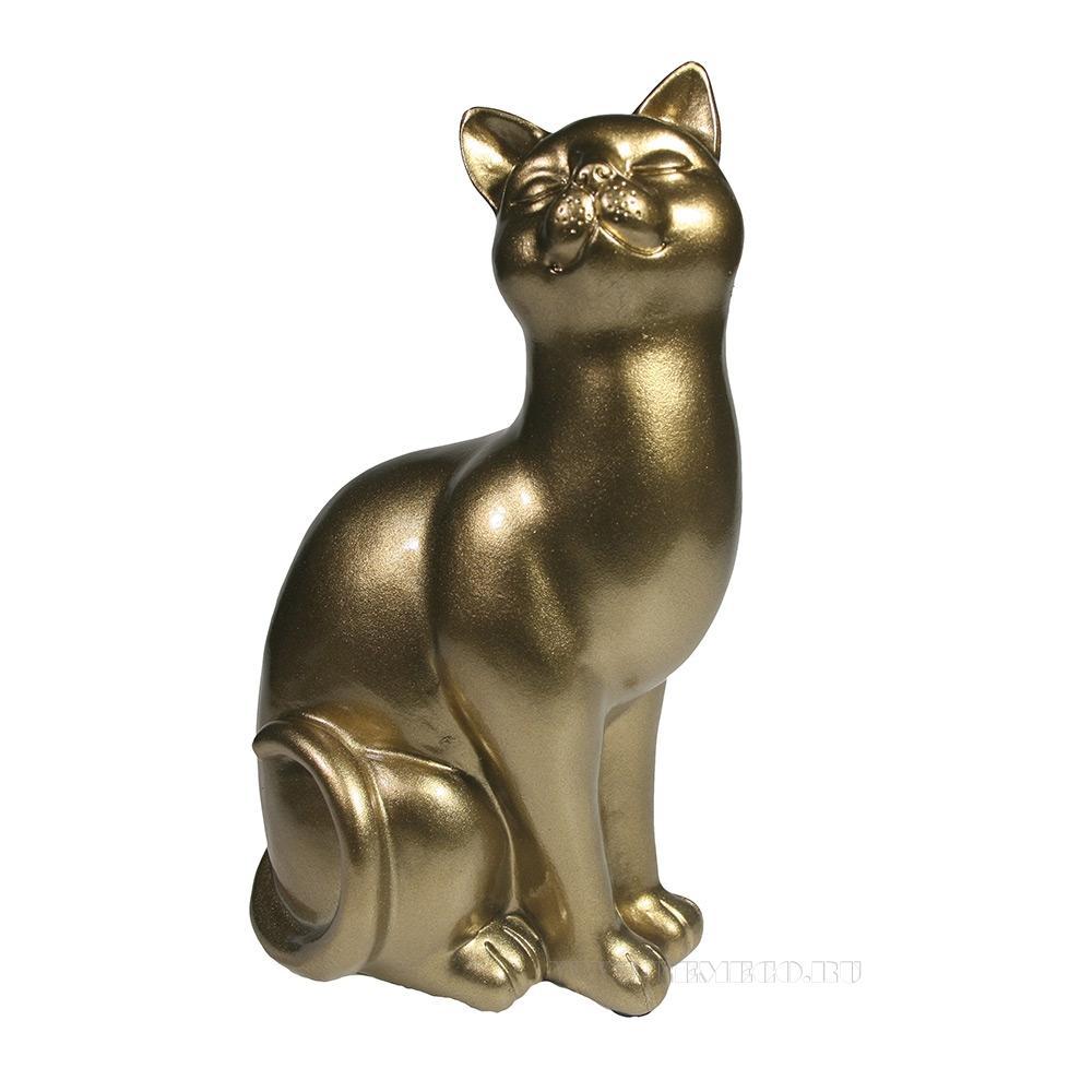 Фигура декоративная Кошка (тяжелая) L12W9H21.5 оптом