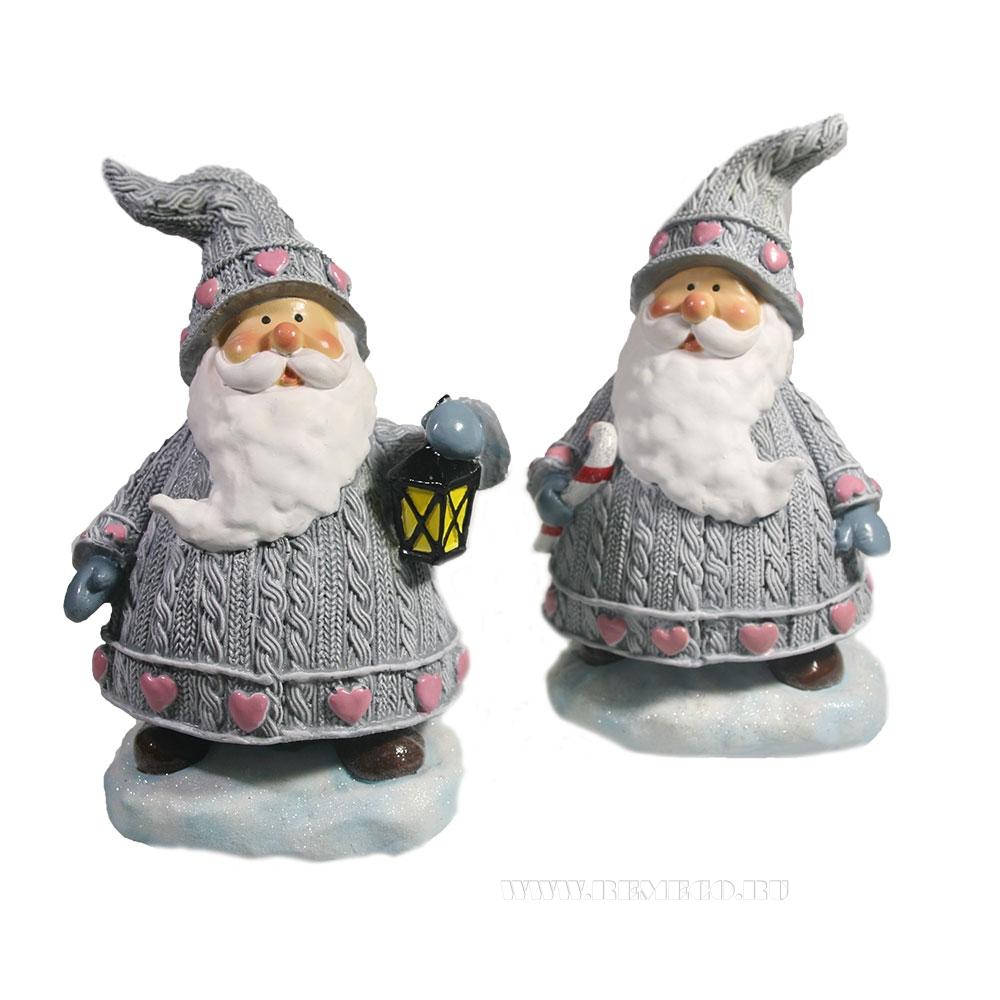 Фигурка декоративная Дед Мороз , L12 W8,5 H17, 2 в. оптом