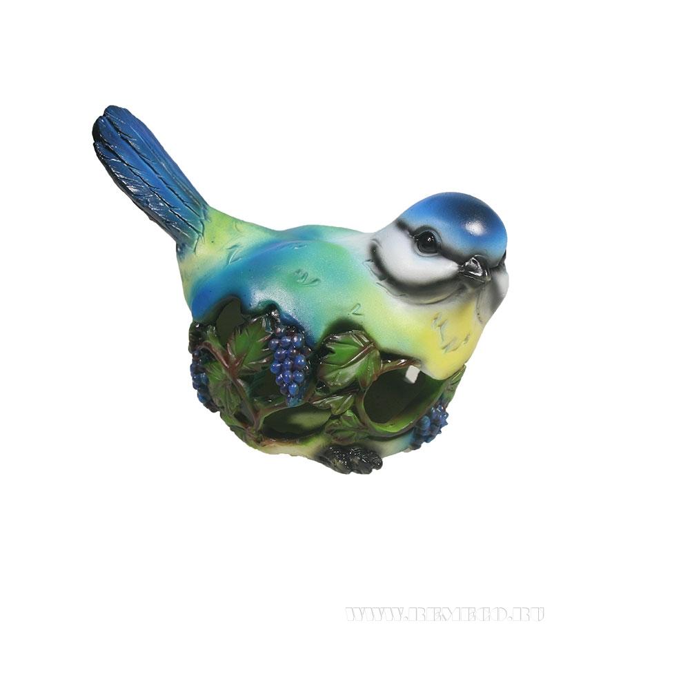 Изделие декоративное Птичка резная (синица) L13W8H11 оптом