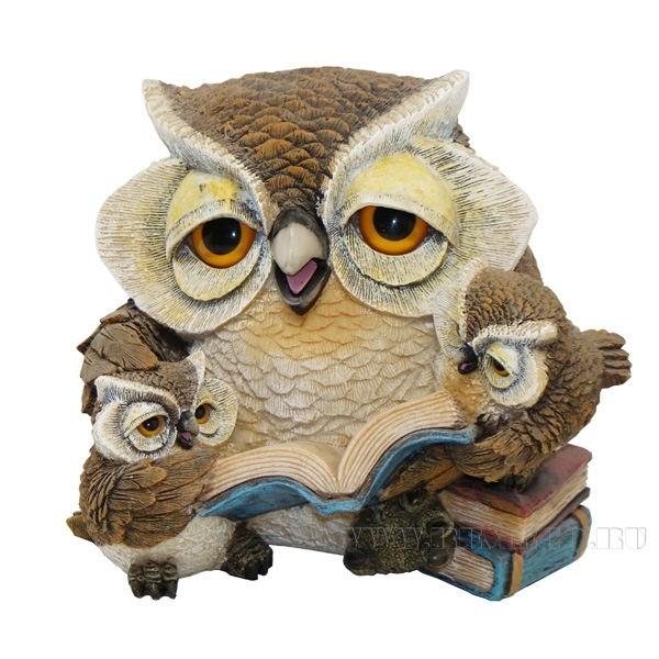 Копилка Сова с совятами читает , L18,5W21H15,5 см оптом