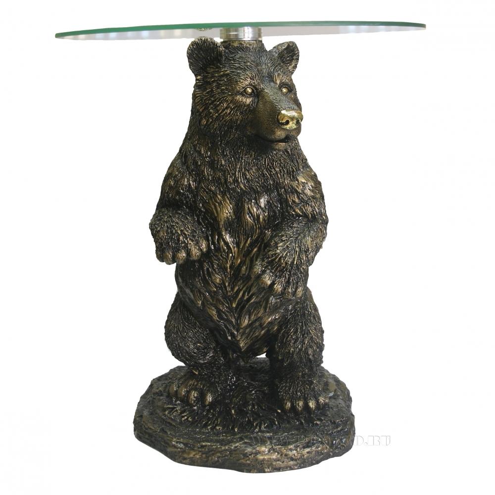 Стол журнальный Медведь , D45 H55 см (2 части - основание, столешница) оптом