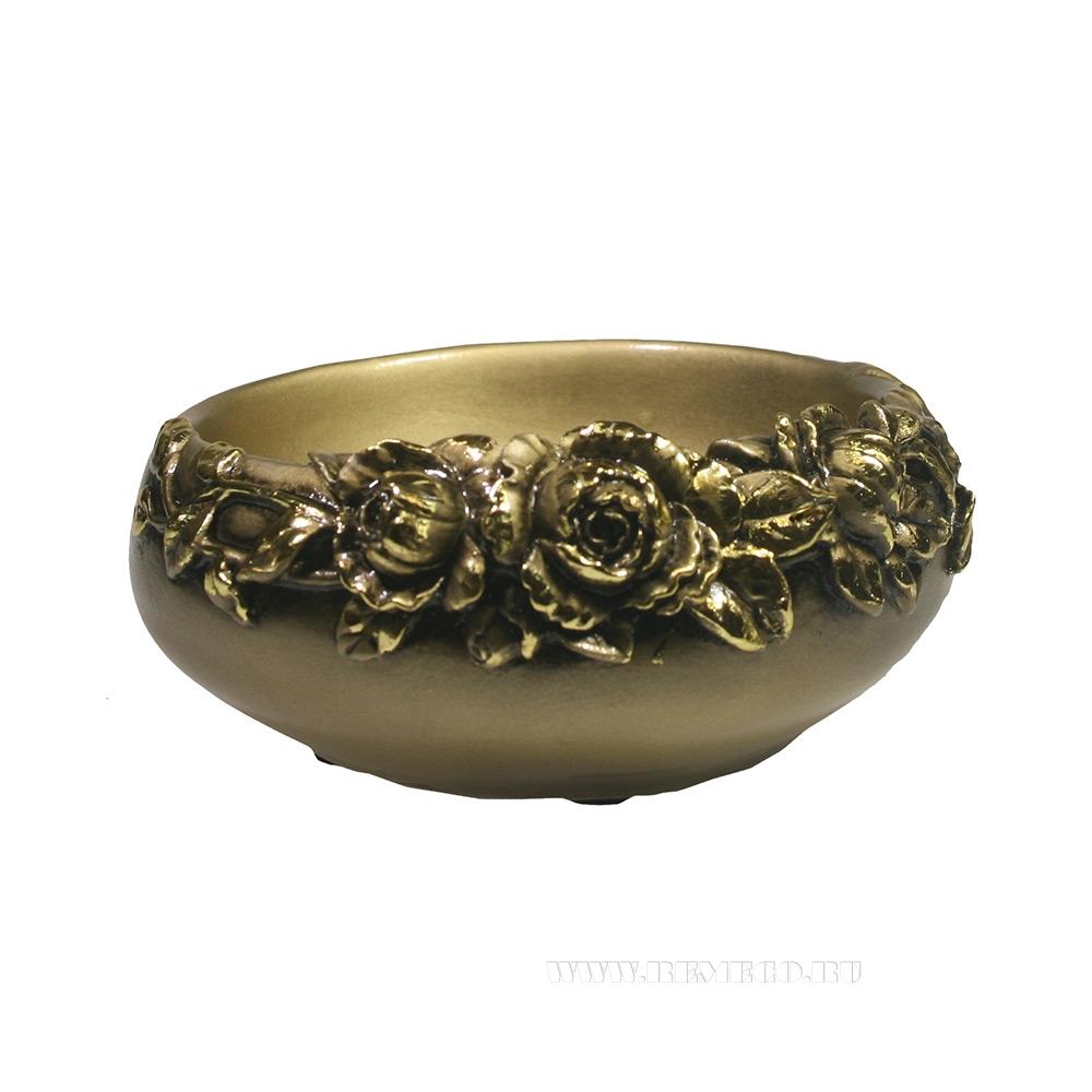 Подставка под украшения с розами (золото)L14W14H6 оптом
