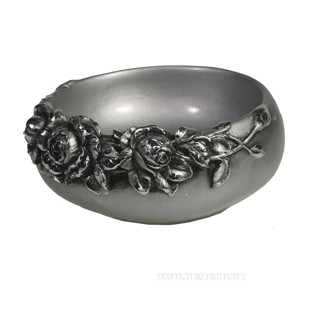 Подставка под украшения с розами (серебро)L14W14H6 оптом