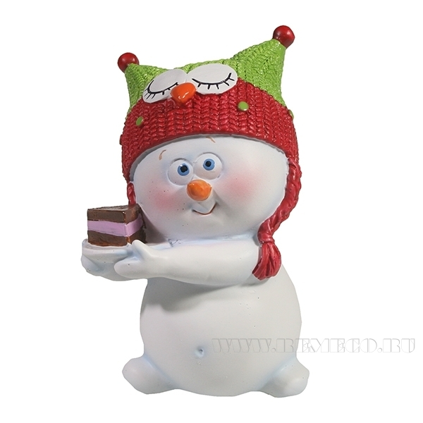 Фигура декоративная Снеговик , L8,5W7.5H11.5, оптом