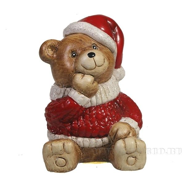 Фигура декоративная Медвежонок сидит , L6W7.5H8, оптом
