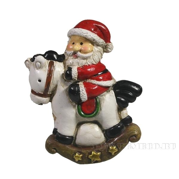 Магнит Дед Мороз на лошадке 3,5W1H4,5 оптом