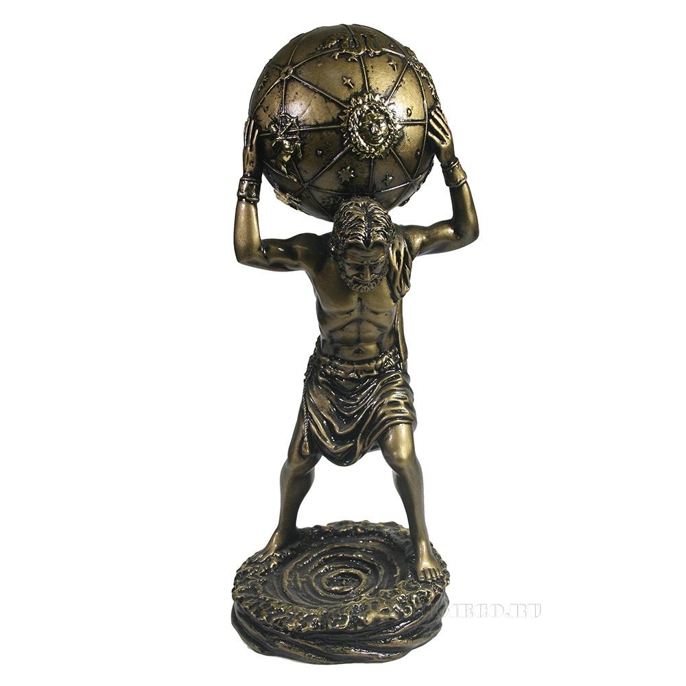Изделие декоративное Атлант (золото) L13,5W13,5H31 см оптом