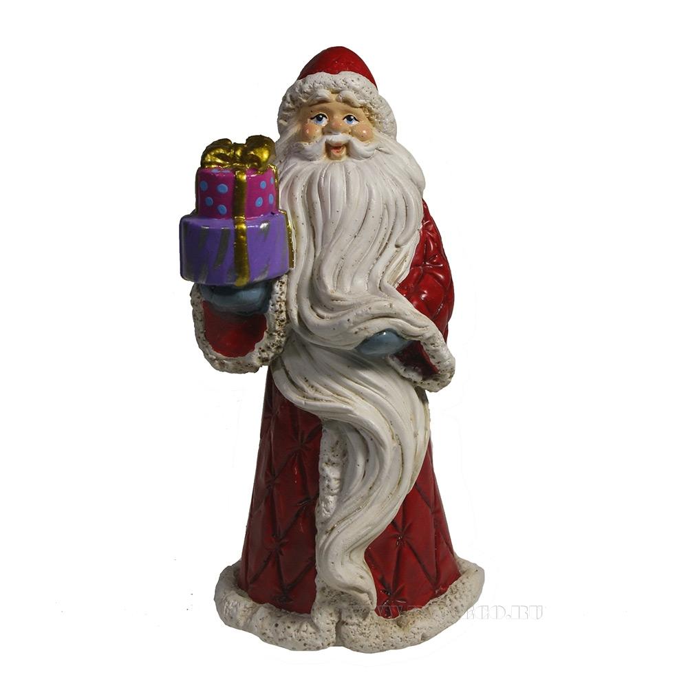 Фигура декоративная Дед Мороз (красный), L7W6H14, оптом