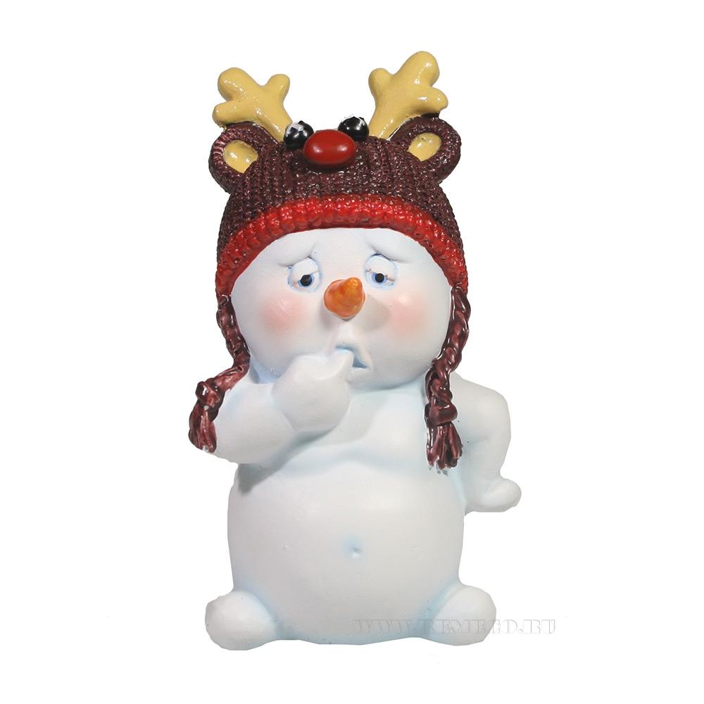 Фигура декоративная Снеговик , L8.5W7.5H11.5, оптом