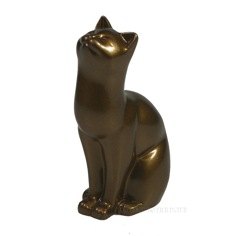 Фигура декоративная Кошка (бронза) L6.5W4H9 оптом