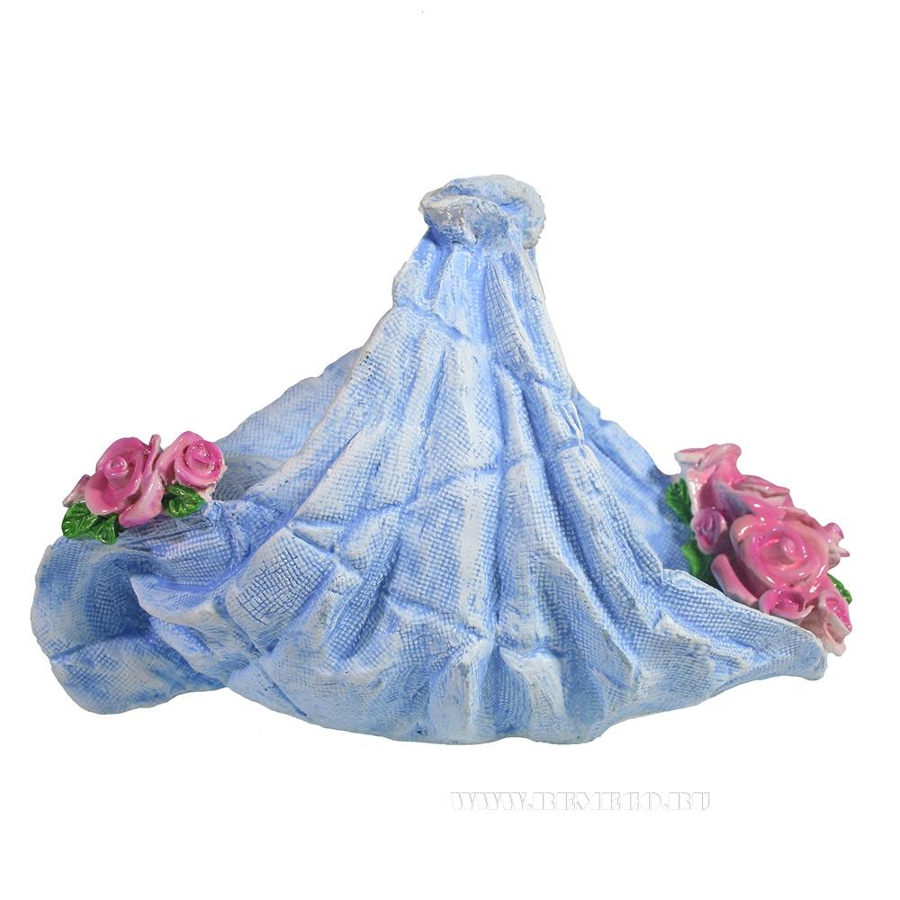 Подставка под бутылку Салфетка с цветами (акрил) L26W16H16 см оптом