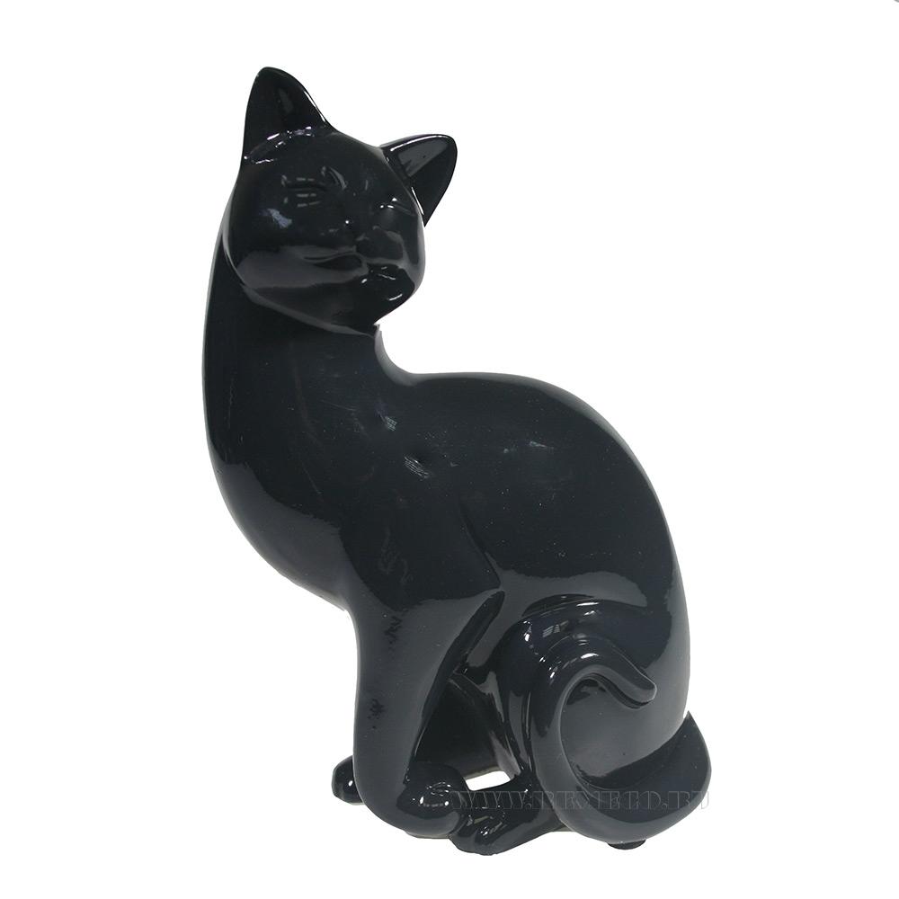 Фигура декоративная Кошка (черный) L13W8H19 оптом