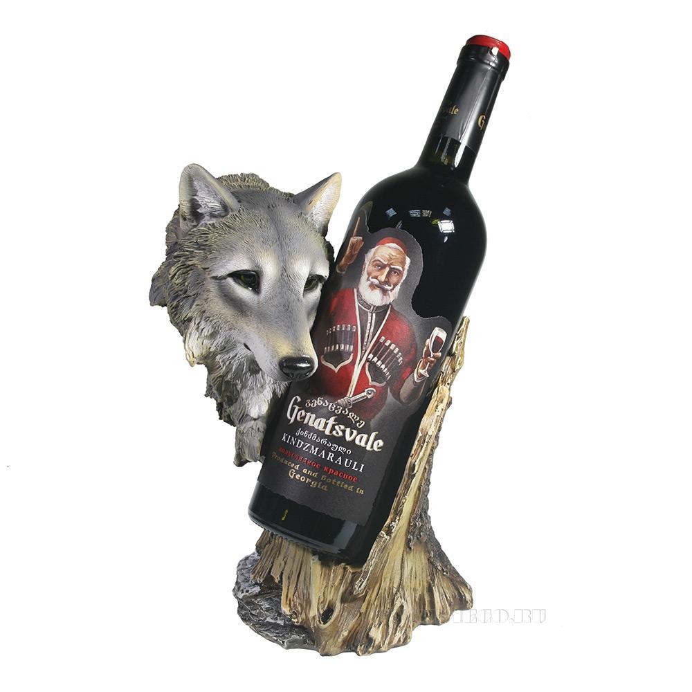 Подставка под бутылку Волк (акрил) L14W17H26 см оптом