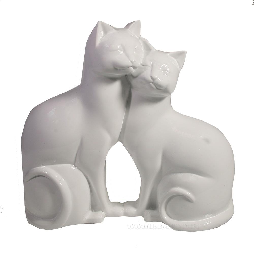 Фигура декоративная Кошки (белые) оптом