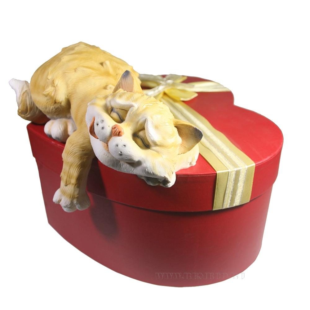 Фигура декоративная Спящий Кот , L25 W12 H9 см оптом