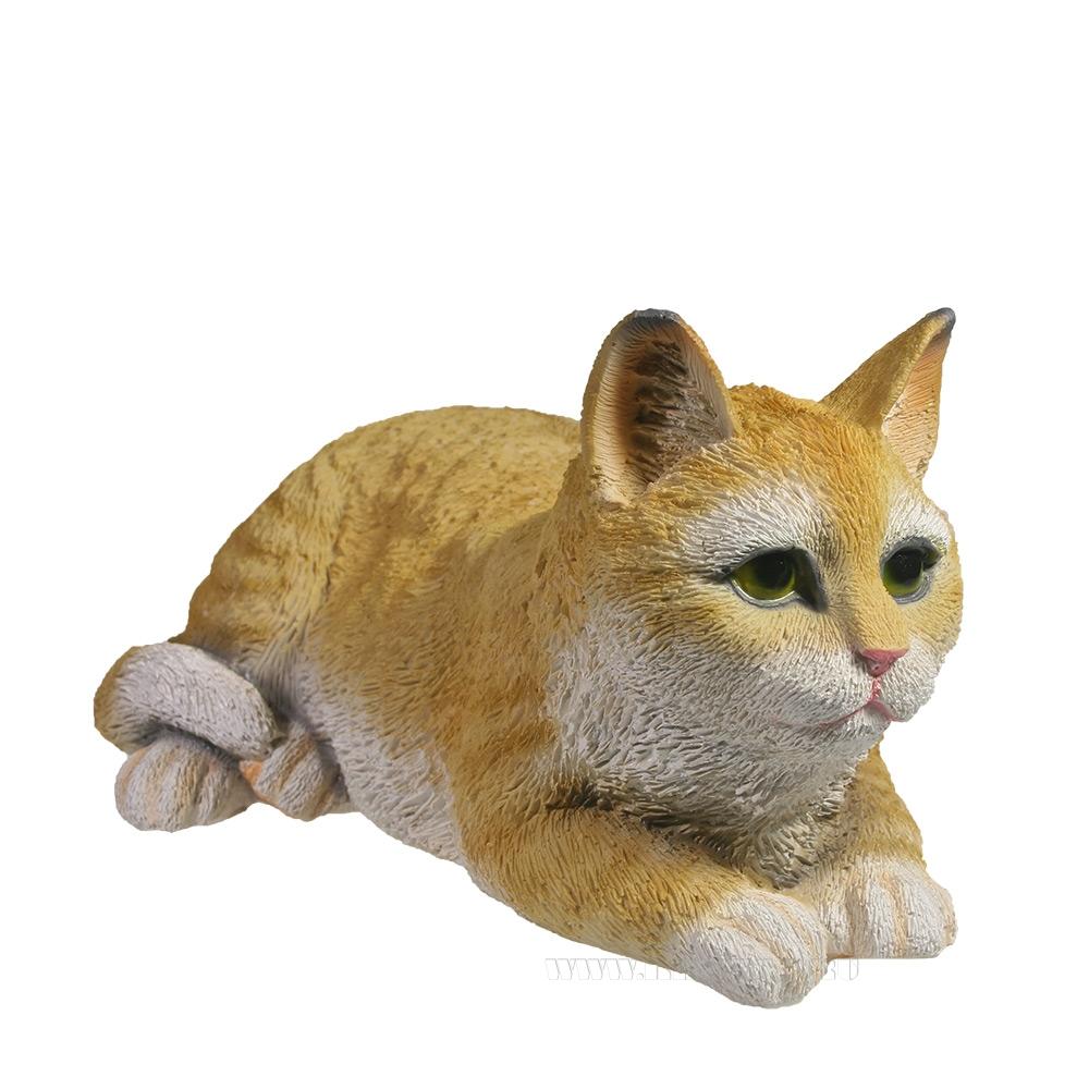 Фигура декоративная декоративная Кот (рыжий), L25 W12 H9 см оптом