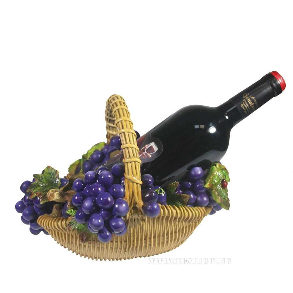 Подставка под бутылку Корзина с виноградом (акрил) L26,5W20H19 см оптом