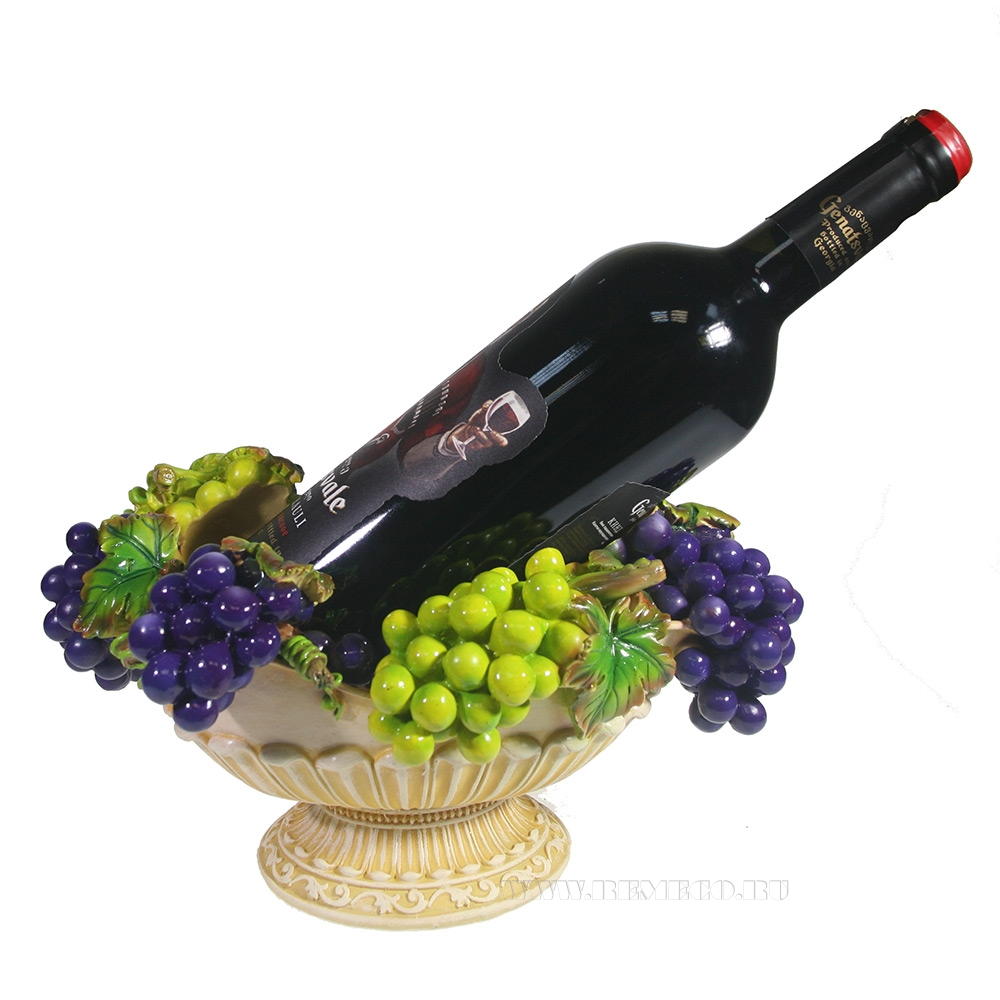 Подставка под бутылку Ваза с виноградом (акрил) L27W18.5H14 см оптом