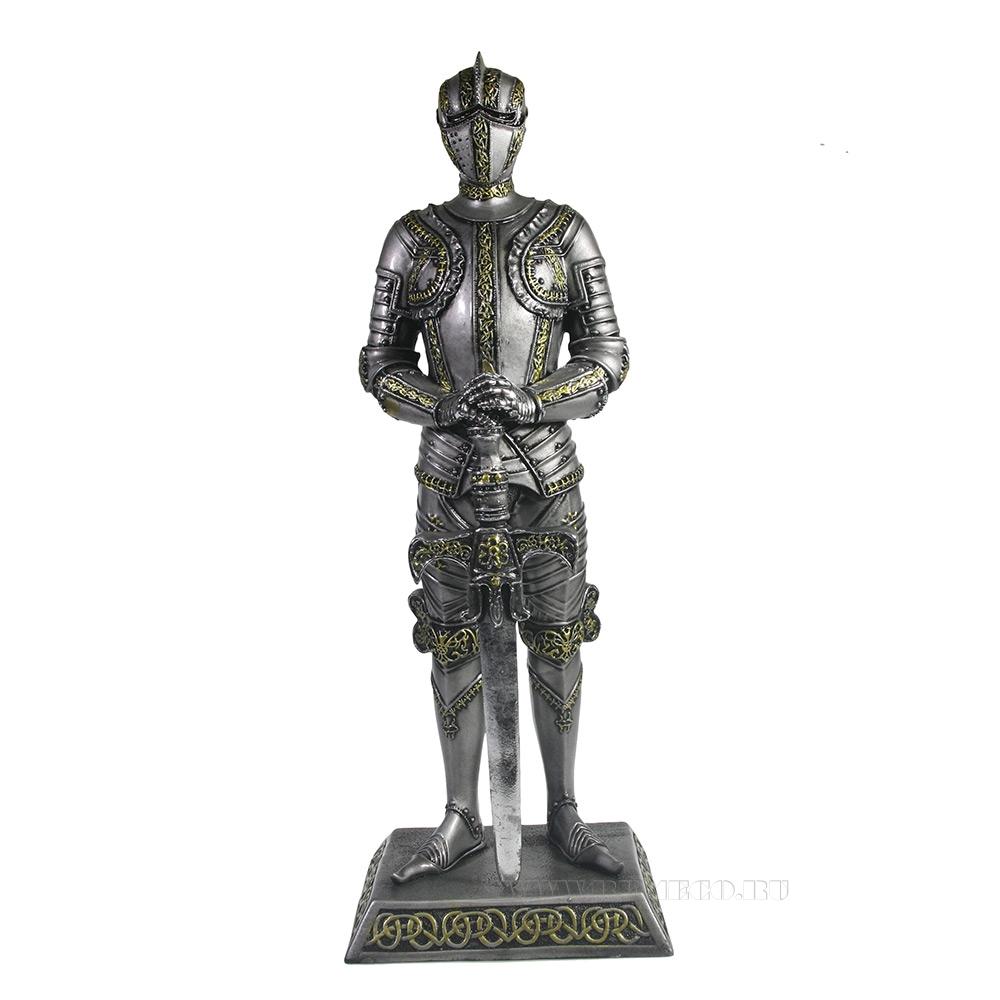 Изделие декоративное Рыцарь L11,5W13,5H37 см оптом
