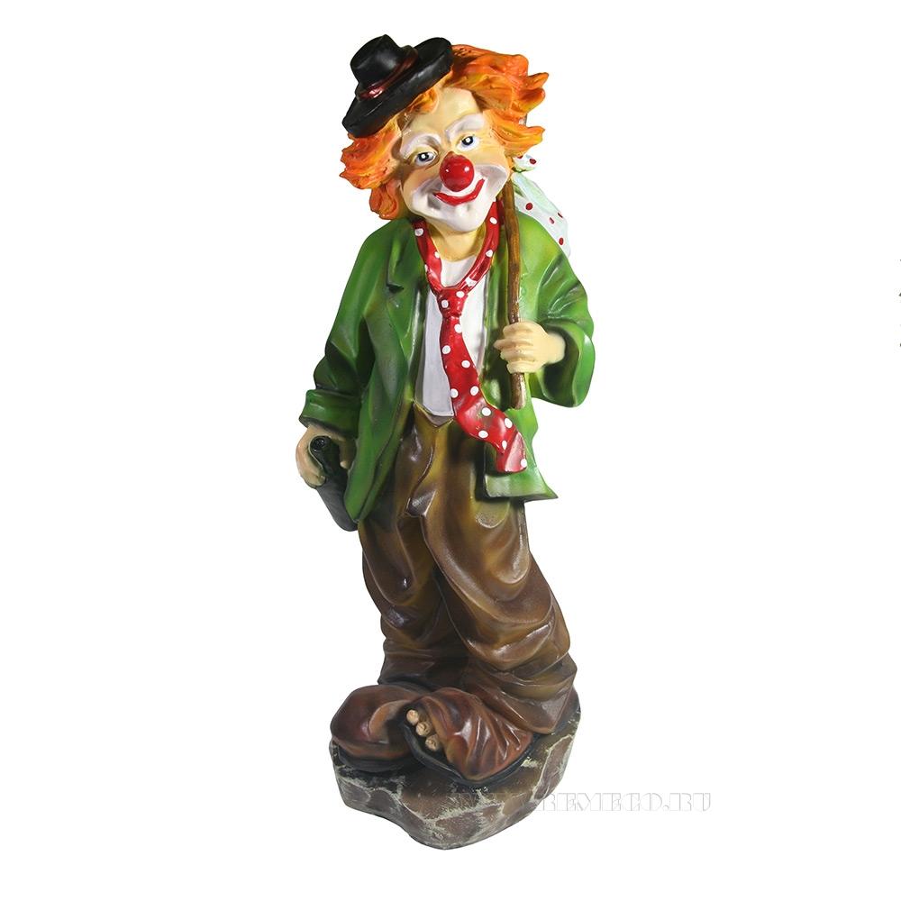 Фигура декоративная Клоун с бутылкой , L13W13H36 см оптом
