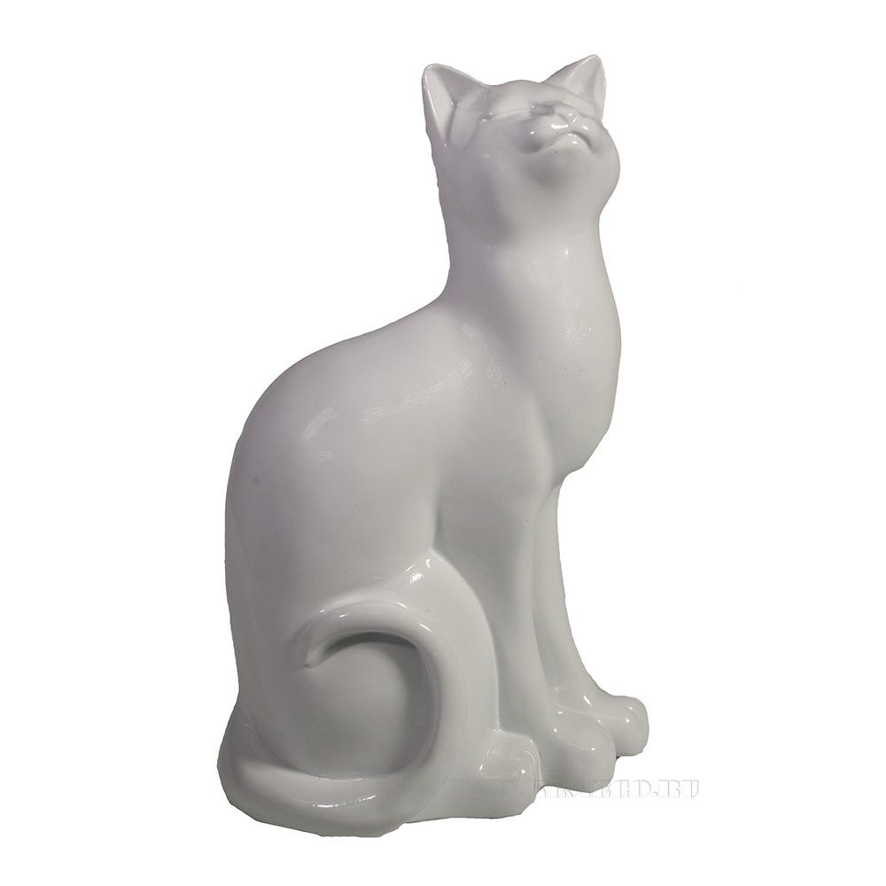 Фигура декоративная Кошка (белый) L12W9H20 оптом