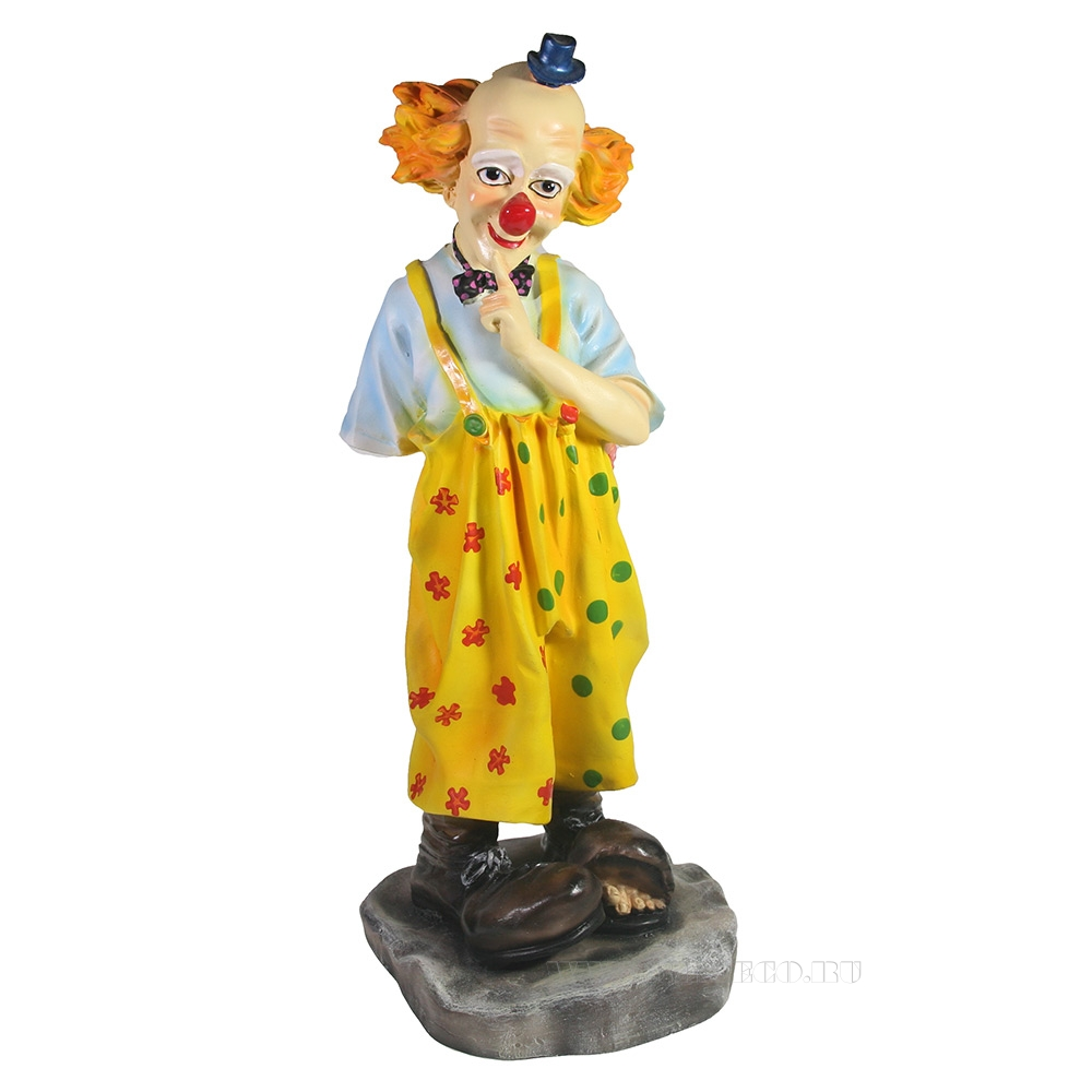 Фигура декоративная Клоун с букетом , L16W14H36 см оптом